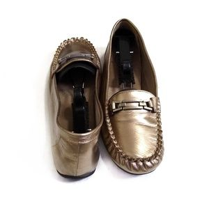Life Stride Metallic Memory Foam Leather Loafer